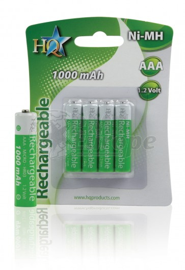 Rechargeable batteries AAA 1000 mAh HQ 4 pieces
