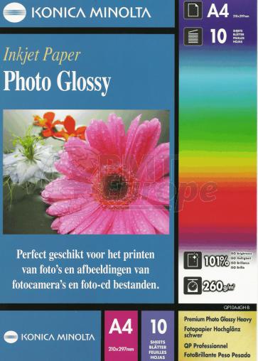 Inktjet fotopapier A4 260g/m² glans Konica 70 vel