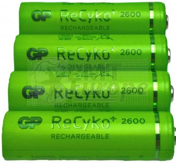 Rechargeable batteries AA 2600 mAh NiMH GP Recyko+ 4 pieces