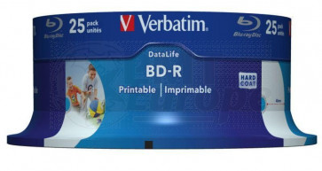 Blu-ray Disc 6X 25Gb recordable Verbatim 25 stuks wit inktjet printable