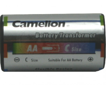 Battery adapter AA to C-Baby Camelion 2 pieces