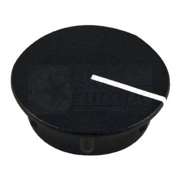 Cap for knob Black (13,5mm) C151BK with line