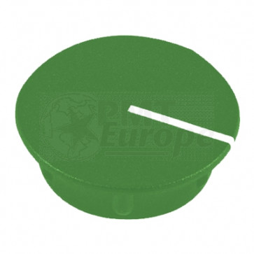 Cap for knob Green (13,5mm) C151G with line