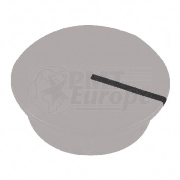 Cap for knob Gray (13,5mm) C151GR with line