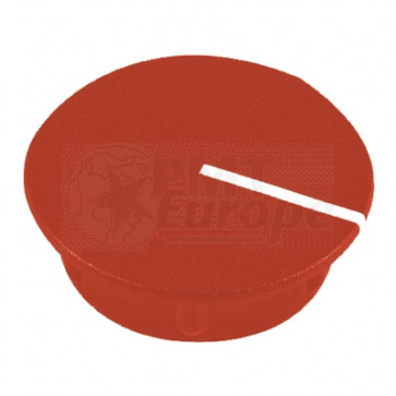 Cap for knob Red (13,5mm) C151R with line