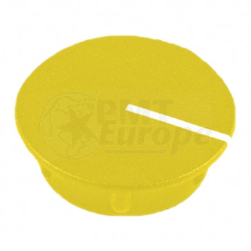 Cap for knob Yellow (13,5mm) C151Y with line