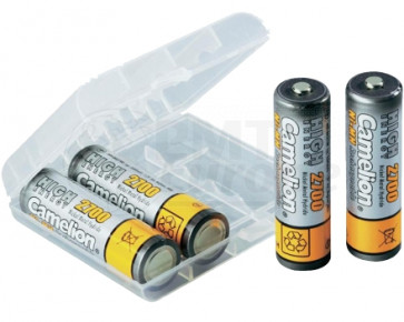 Rechargeable batteries AA 2700 mAh Camelion + storage system 4 pieces