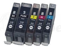 Canon CLI-8 / PGI-5 Discount set + chip (own brand)