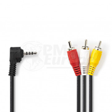 Cable 3.5mm mini jack (4 pin) - 3* RCA/Tulp 2m