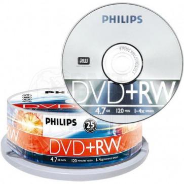 DVD+RW 4.7GB 4X Philips 25 pieces