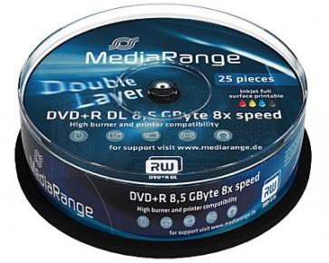 DVD+R 8.5GB 8X Mediarange double layer 25 pieces white inkjet printable