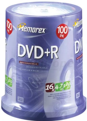 DVD+R 4.7GB 16X Memorex 100 pieces