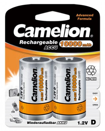 Rechargeable batteries Mono D 10.000 mAh Camelion 2 pieces