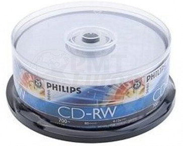 CD-RW 80min Philips 25 pieces