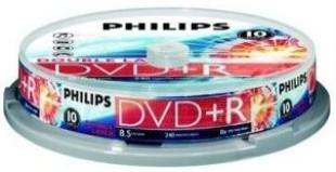 DVD+R 8.5GB 8X Philips double layer 10 pieces