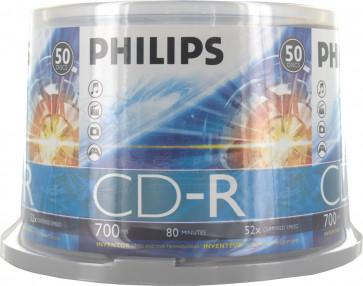 CD-R 52X Philips 50 pcs