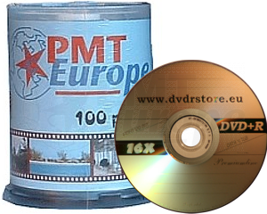 DVD+R 4.7GB 16X PMT europe 100 pieces