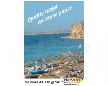 Inktjet fotopapier A4 150g/m² glans Profselect 50 vel waterbestendig
