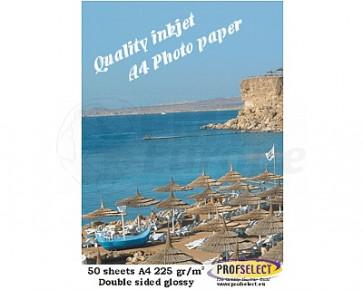 Inktjet fotopapier A4 220g/m² glans Profselect 50 vel dubbelzijdig
