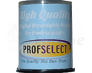 DVD+R 4.7GB 16X Profselect 100 pieces full white inkjet printable