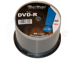 DVD-R 4.7GB 16X Thats Write 600 pcs