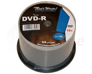 DVD-R 4.7GB 8X Thats Write 50 pieces