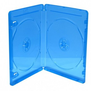 Blu-ray Disc case for 2 discs blue 5 pieces