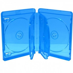 Blu-ray Disc case for 6 discs blue 5 pieces