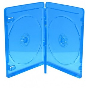 Blu-ray Disc case for 4 discs blue 5 pieces