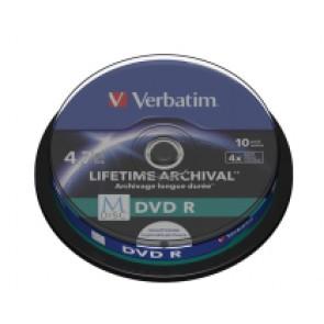 M-Disc DVD R 4.7GB 4X Verbatim full wit inkjet printable