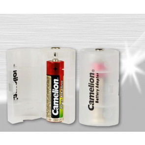 Battery adapter AA to D mono Camelion 2 pieces