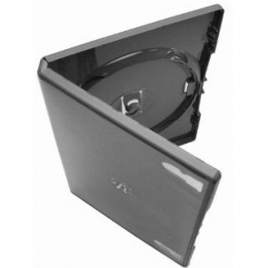 DVD case 14mm 2 dvd's black 49 pieces Amaray