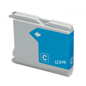 Brother LC-970 / LC-1000C inktcartridge cyaan (huismerk)