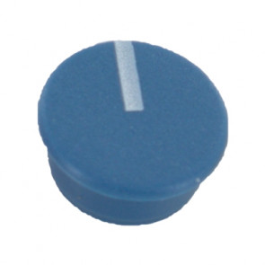 Cap for knob Blue (9mm) C111B with line