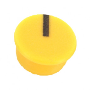 Cap for knob Yellow (9mm) C111Y with line