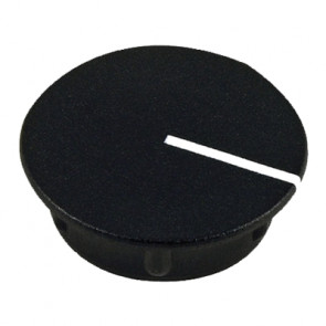 Cap for knob Black (13,5mm) C151BK with line