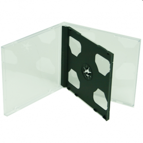 CD jewelcase 10.4mm zwart voor 2 cd's 5 stuks