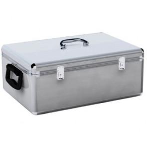 DJ koffer voor 1000 schijven zilver
