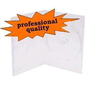 DVD doos 14mm 1 dvd extra doorzichtig professionele kwaliteit 10 stuks