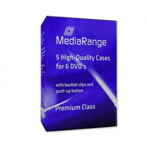 DVD doos 6 dvds zwart 5 stuks