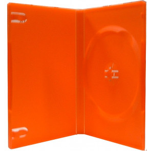 DVD case 14mm 1 dvd red mix 98 pcs recycling