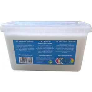Glycerin melt and pour soap base non-scented 2,5 kilo white