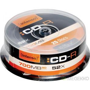 CD-R 80min 52X Intenso 25 pieces