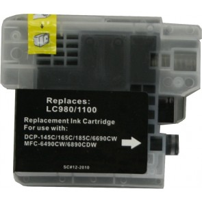 Brother LC-980 /  LC-1100BK inktcartridge zwart (huismerk)