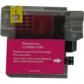 Brother LC-980 /  LC-1100M inktcartridge magenta (huismerk)