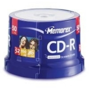 CD-R 52X Memorex 50 pcs