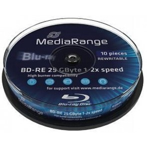 Blu-ray Disc 2X 25Gb rewritable Mediarange 10 stuks