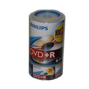 DVD+R 4.7GB 16X Philips 120 pieces