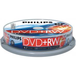 DVD+RW 4.7GB 4X Philips 10 pieces