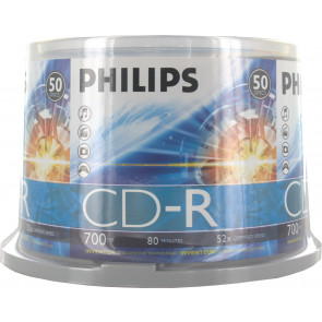 CD-R 52X Philips 50 pcs